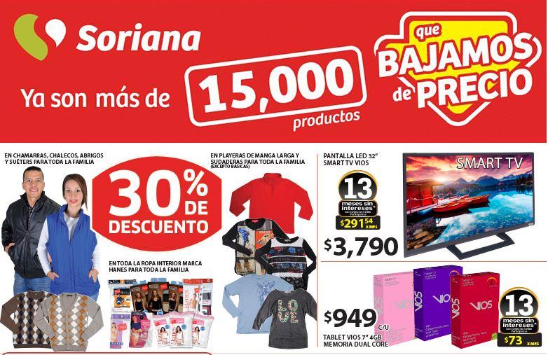 Ofertas en Soriana del fin de semana del 9 al 12 de Enero del 2015