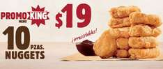 Burger King: 10 nuggets por $19