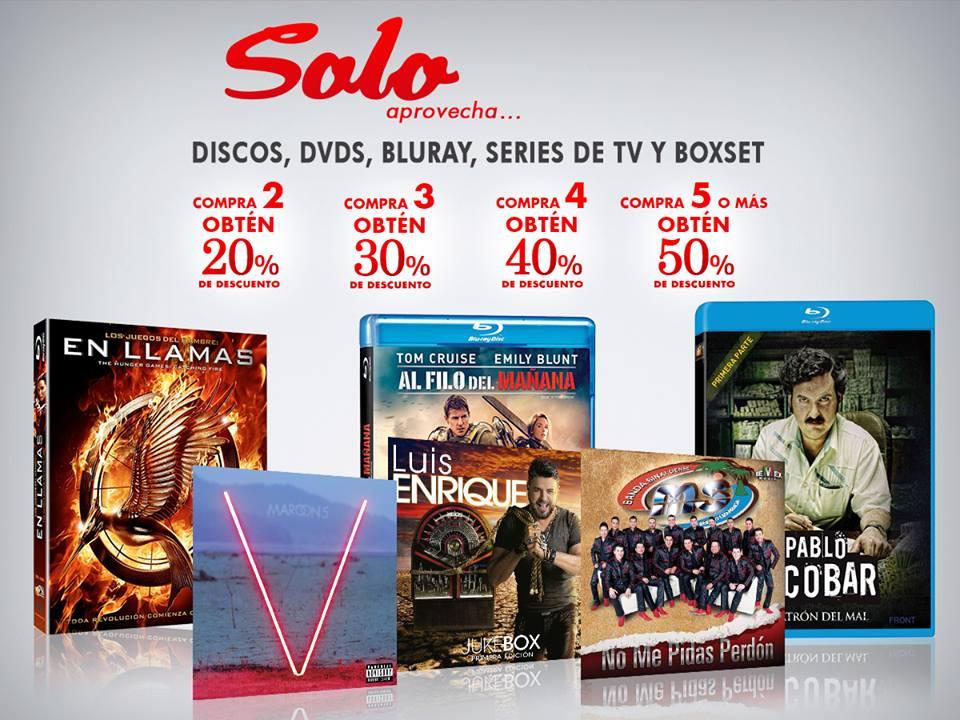 Sanborns: hasta 50% de descuento en discos, DVDs, Blu-ray y más