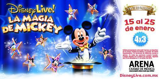 4X3 en Disney Live La Magia de Mickey