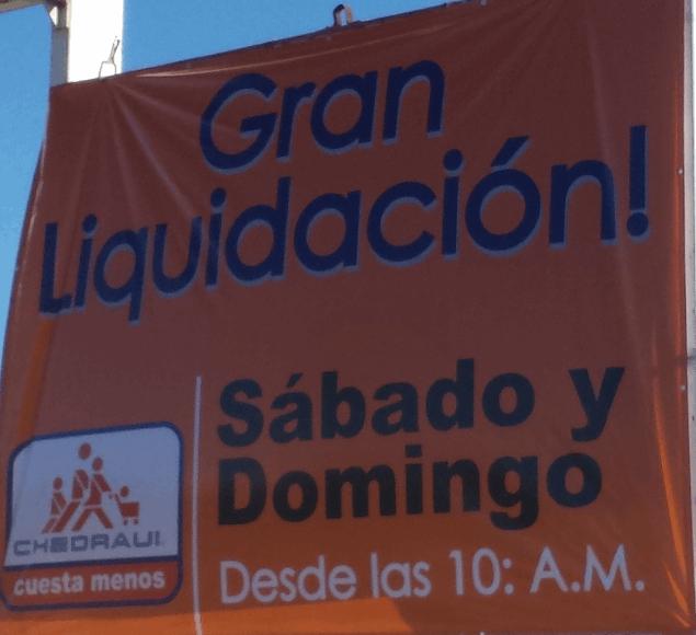 Chedraui Cuiliacán: liquidación por cierre de tienda