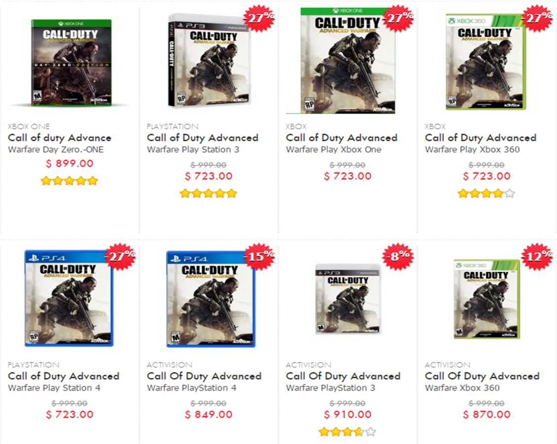 Linio: Call of Duty Advanced Warfare para todas las consolas en 723