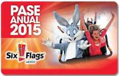 Pase anual Six Flags 2015 y 2014 por $519 ó $489