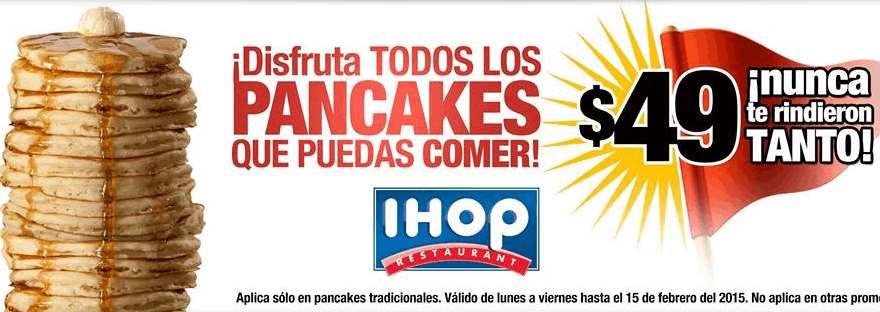 IHOP: pancakes ilimitados de lunes a viernes por $49