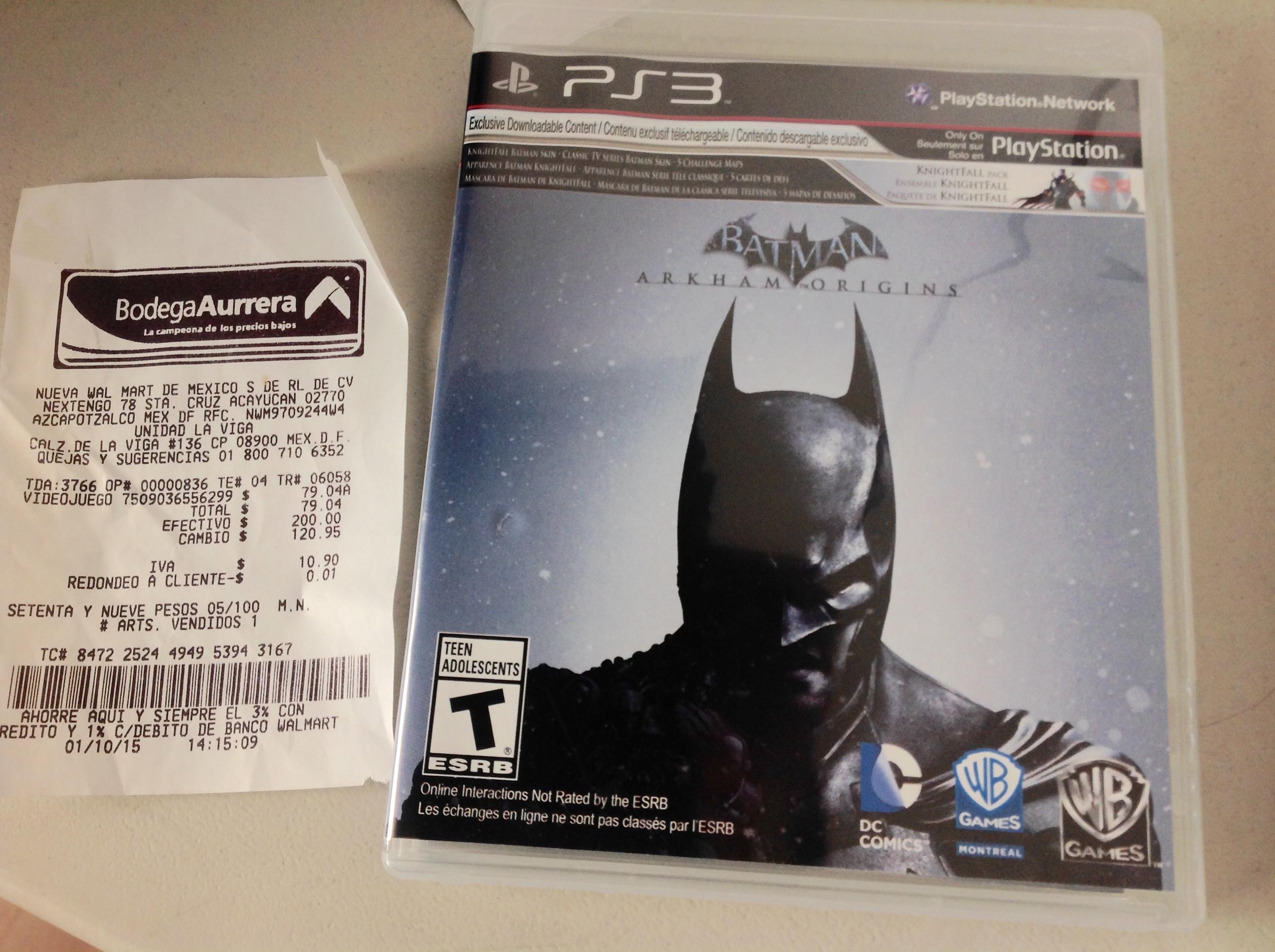 Bodega Aurrerá: Batman Origin $79