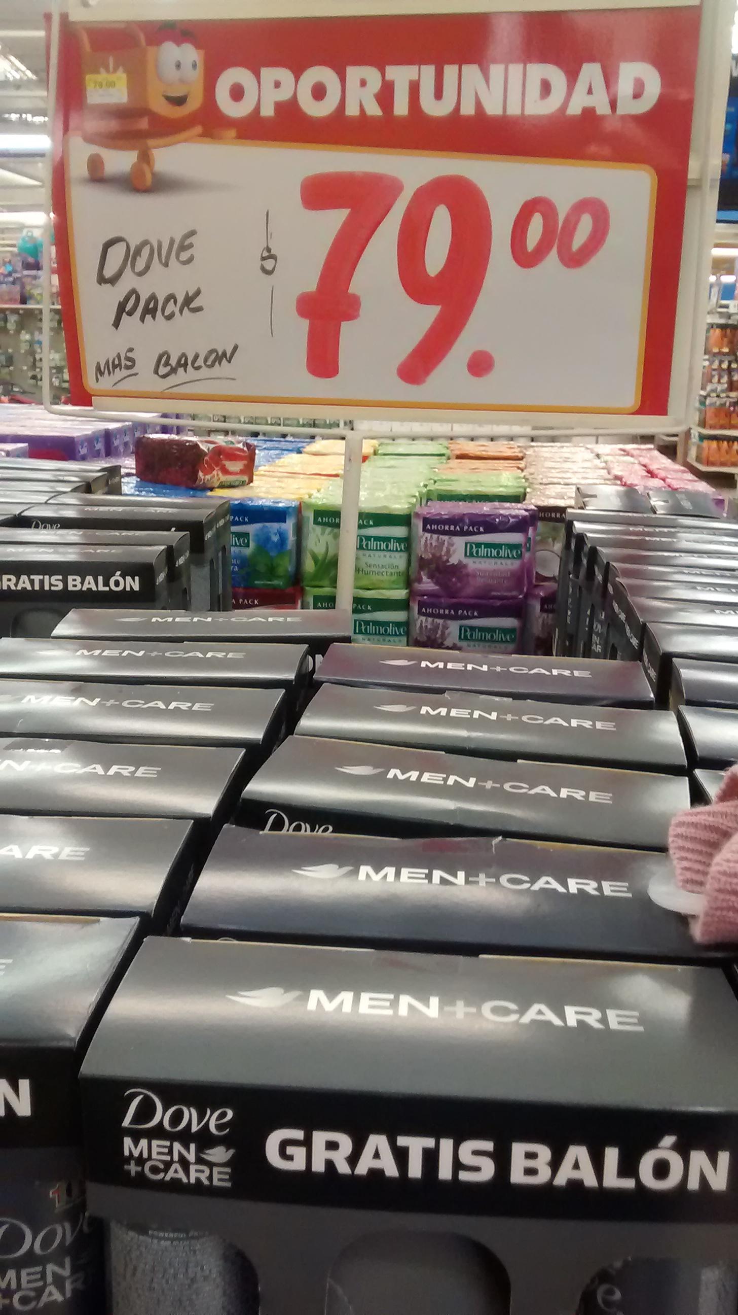 Walmart: 2 desodorantes Dove en aerosol mas balón de NFL $79