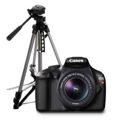 Canon: cámara profesional EOS Rebel T3 18-55 mm reacondicionado + Tripié de Regalo a $2,999