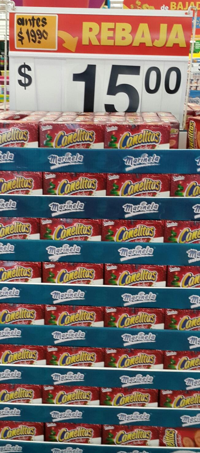 Walmart: paquete de CANELITAS a $15 pesos