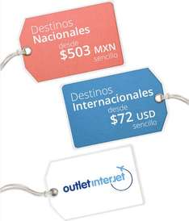 Interjet: Oferta de viajes hasta 60% de descuento.