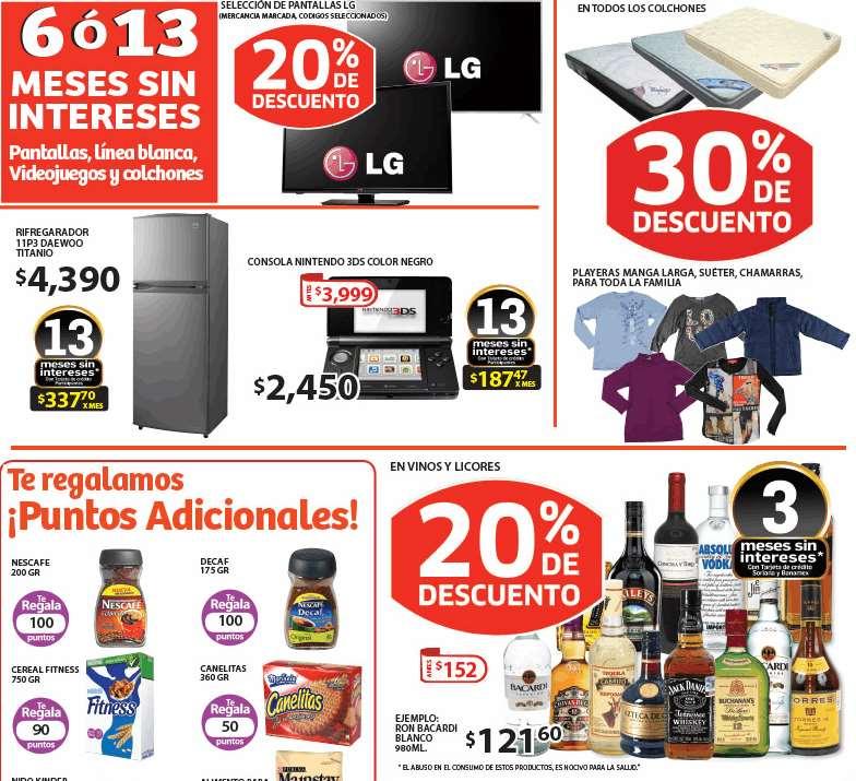 Soriana: 20% de descuento en vinos y licores, 30% en colchones y más