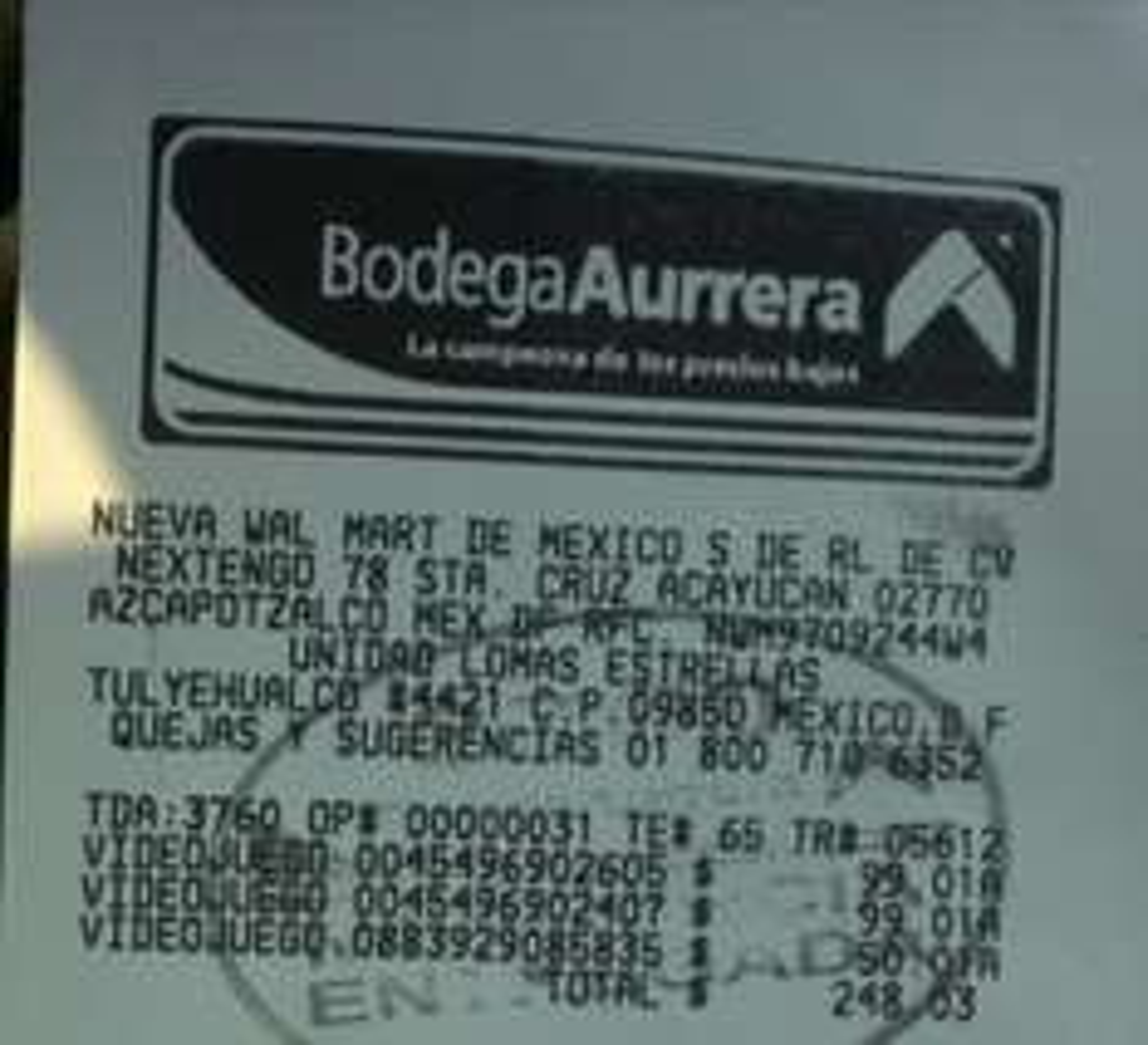 Juegos de Wii en oferta Bodega Aurrera