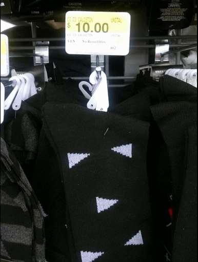 WAL-MART: camisas slim fit $100 y calcetines de vestir $10