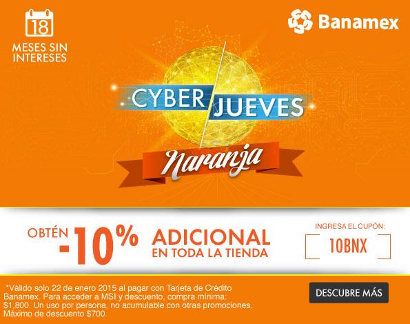 Linio: cupón 10% de descuento en toda la tienda y meses sin intereses con Banamex