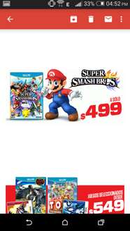 Gamers: Super Smashbros Wii U $499 y 3DS $649