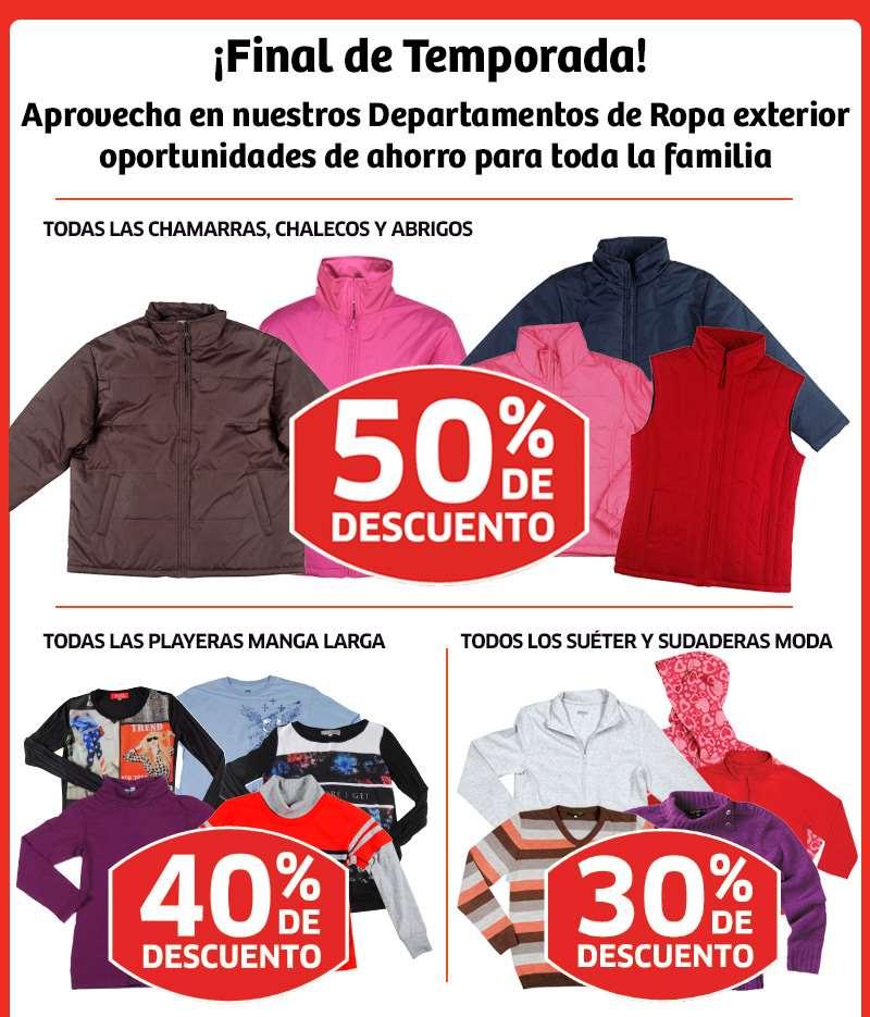 Soriana: 50% de descuento en chamarras, chalecos y abrigos y más