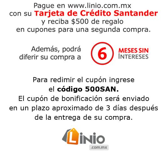 Linio: Realiza una compra con tarjetas Santander y recibe cupón por $500