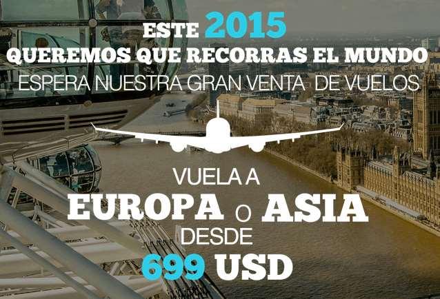 Mundo Joven: vuelos a Europa desde $699 dólares