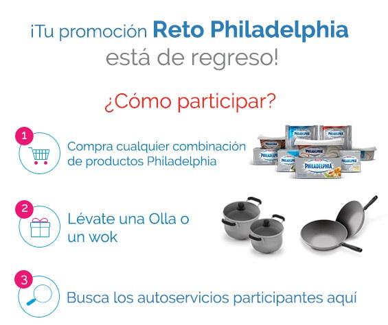 Olla o wok gratis comprando cualquier producto Philadelphia