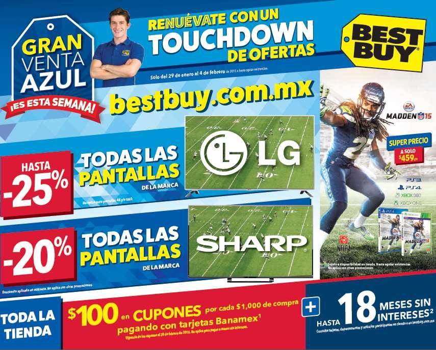 Best Buy: venta azul del 29 de enero al 4 de febrero