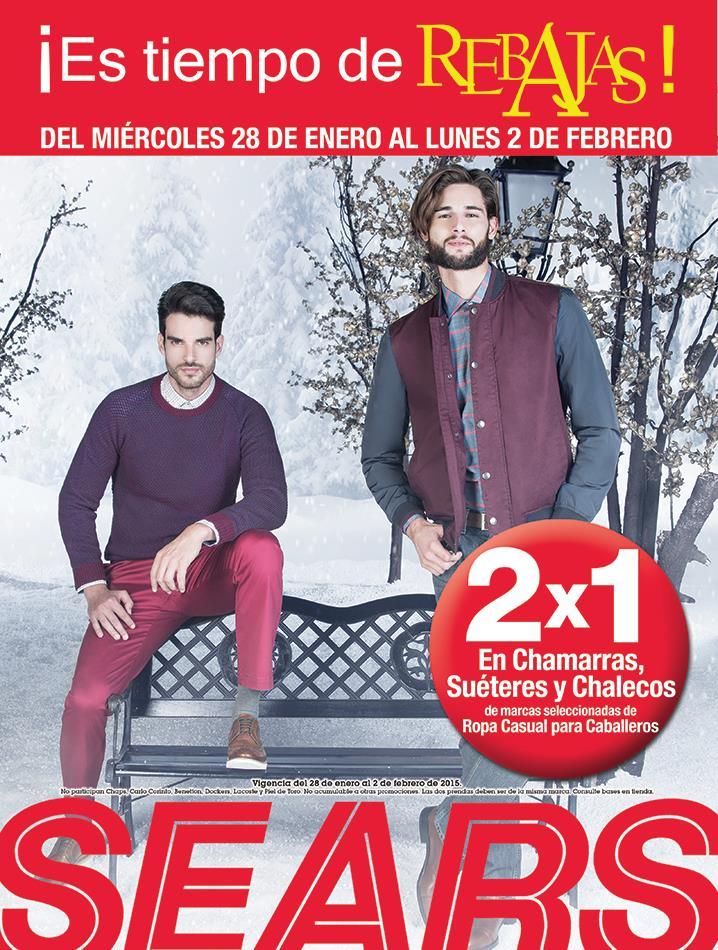 Sears: 2x1 en chamarras, suéteres y chalecos para hombre