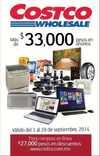 Folleto de ofertas en Costco del 1 al 28 de septiembre