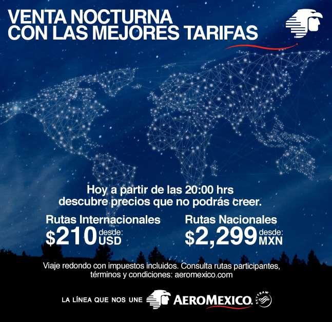 Venta nocturna Aeroméxico enero 30
