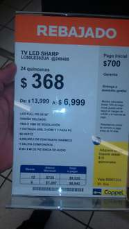 "Coppel: LED Smart TV Sharp 50"" de $13,999 a $6,999"