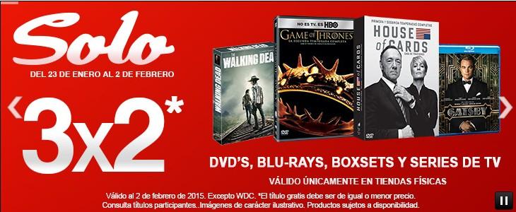 Sanborns 3x2 en DVD´s, Blu-rays, series de tv y boxsets