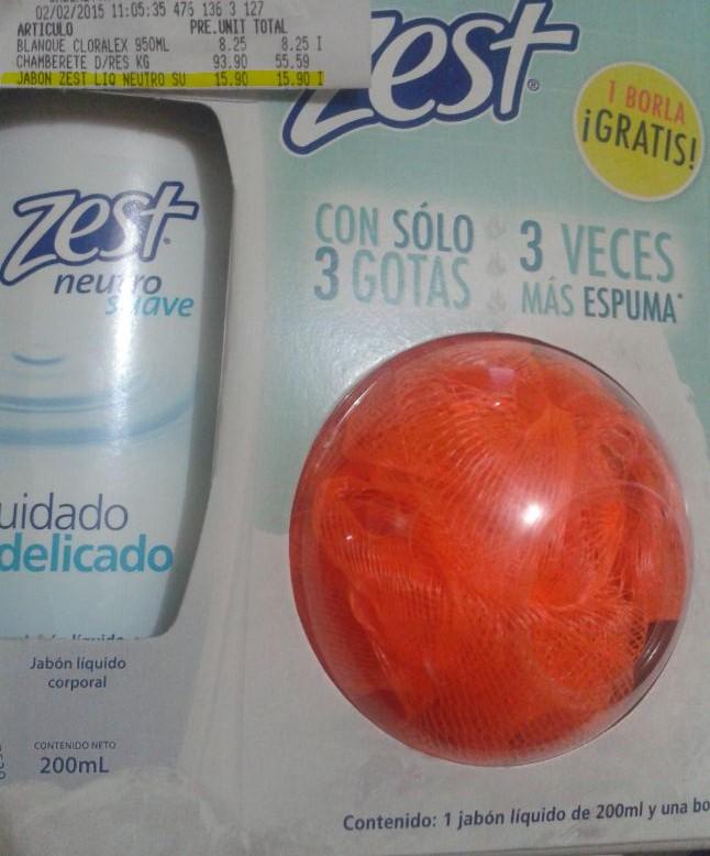 soriana hiper: Jabon Zest Liquido neutro 15.90