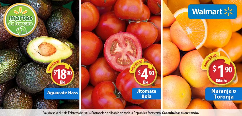Martes de frescura en Walmart febrero 3: naranaja $1.90 el kilo y más