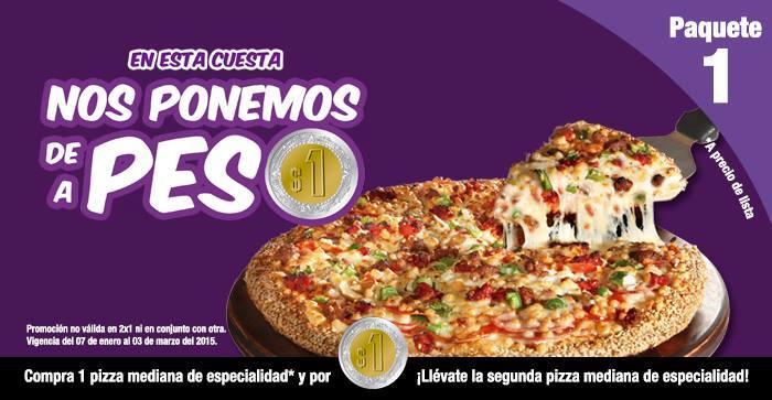 Benedettis Pizza: Pizza mediana y por un peso más otra pizza mediana o entrada o postre o baguette.