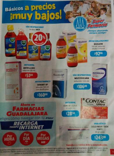 Folleto de ofertas Farmacias Guadalajara del 1 al 14 de febrero 2015