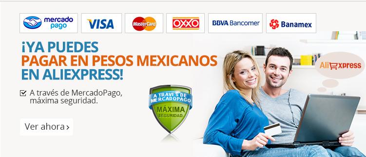 Aliexpress: 15% con maximo de $150 de descuento usando mercado pago