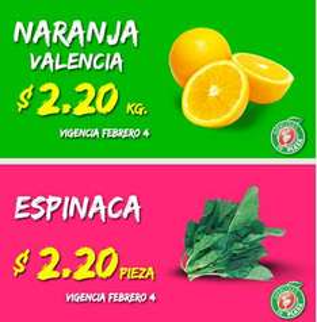 Miércoles de Plaza en La Comer febrero 4: naranja $2.20 y más