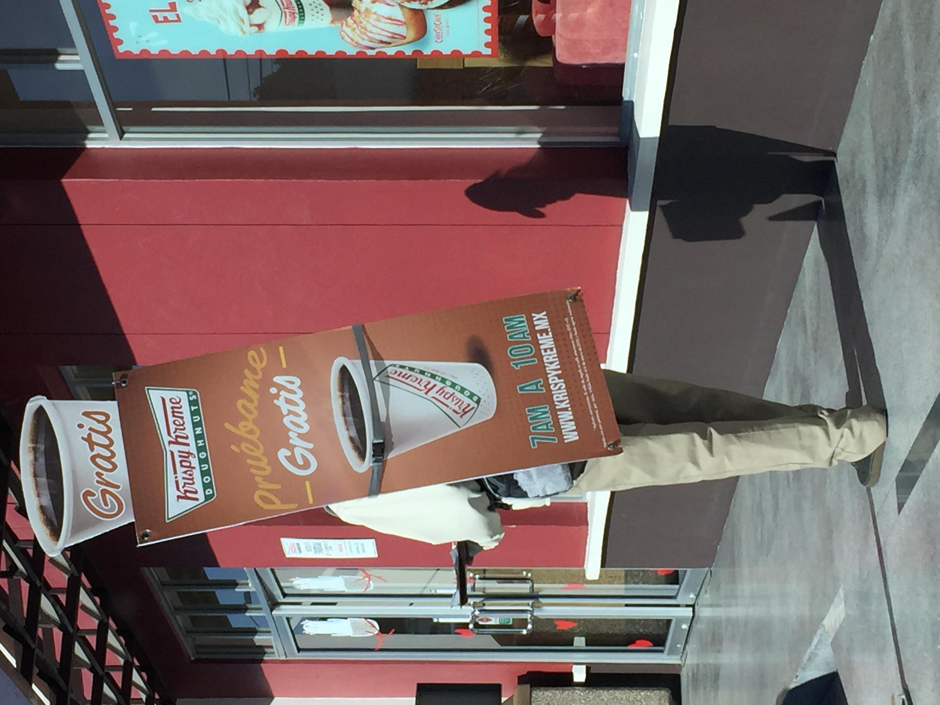 Krispy kreme: cafe americano gratis de 7am a 10 am