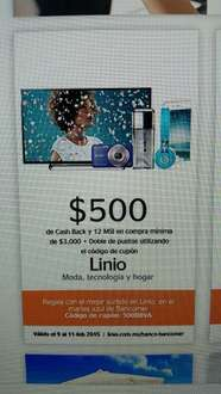 LINIO: CashBack $500 con Bancomer y 12 MSI