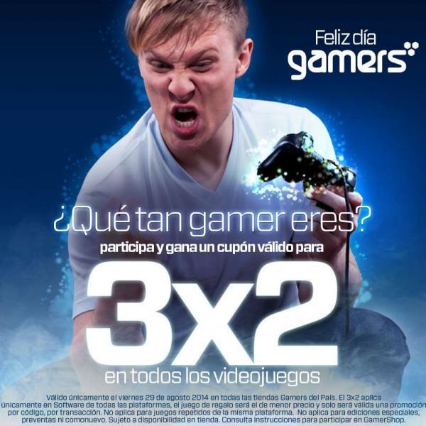 Gamers: 3x2 en videojuegos incluyendo PS4 y Xbox One (se necesita Facebook)