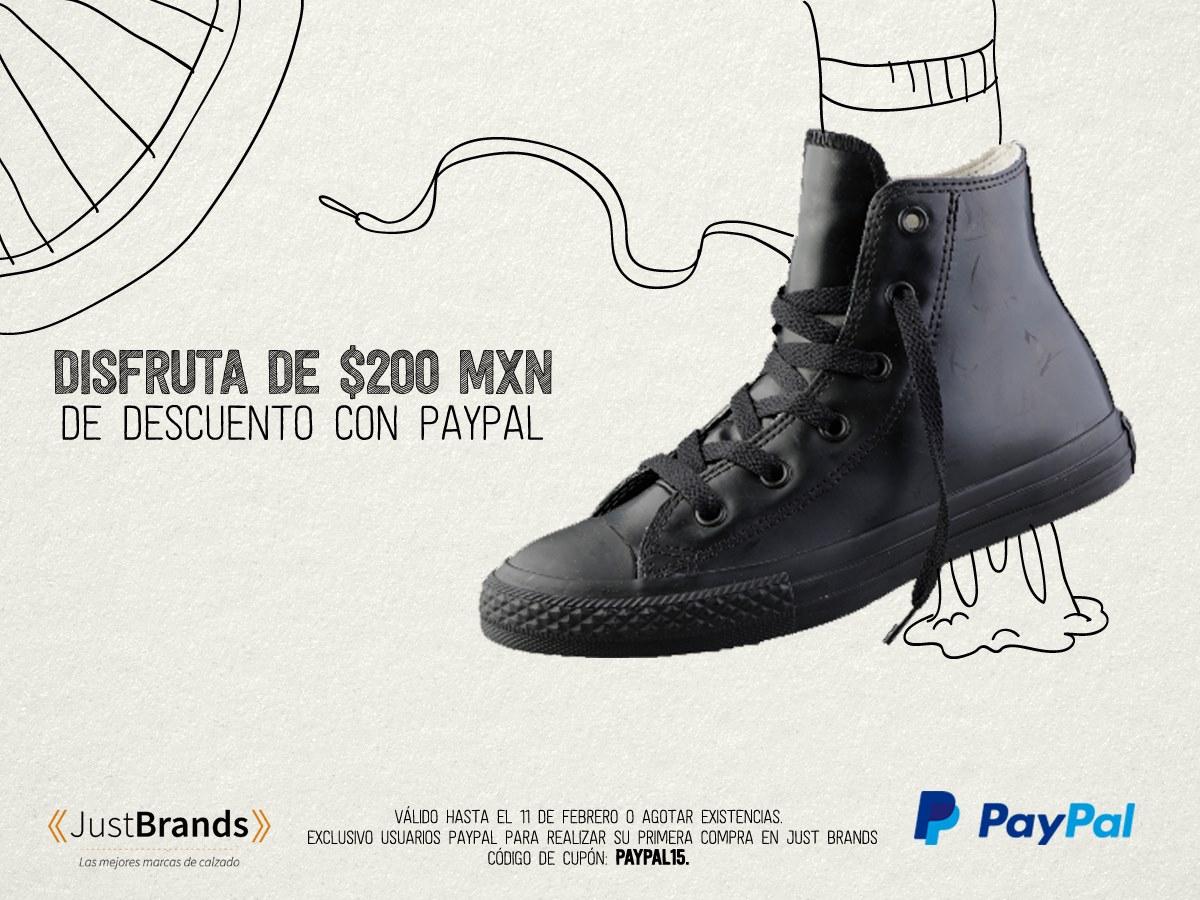 Just Brands: $200.00 de descuento pagando con PayPal