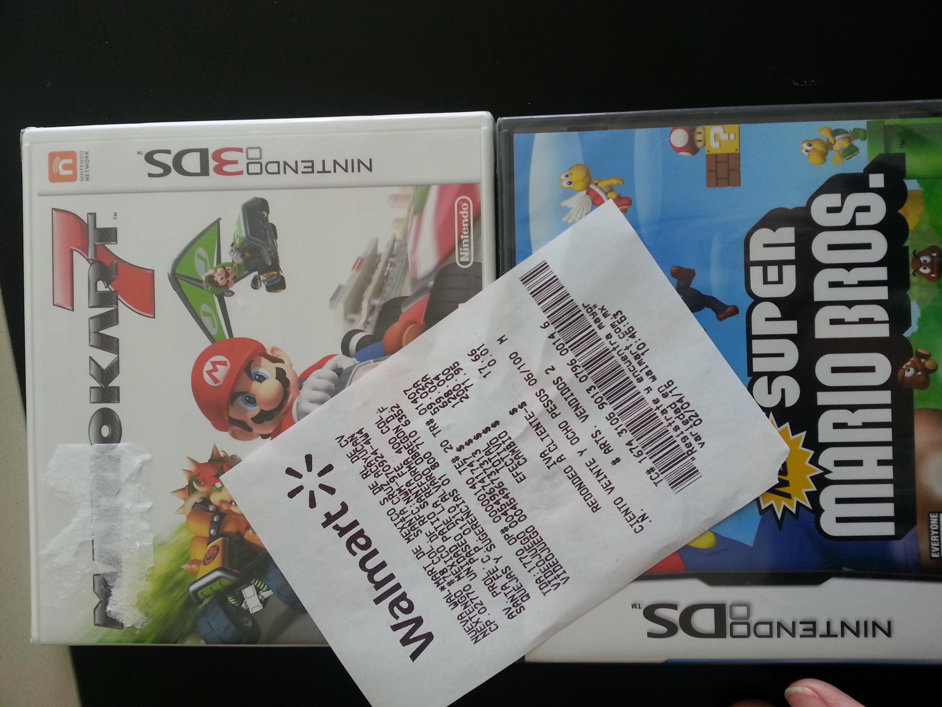 Walmart: Mario Kart 7 para Nintendo 3DS $59