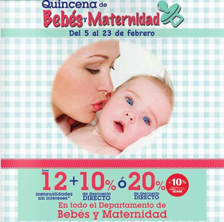 Sears: quincena del bebé y maternidad y 3x2 en camisas y corbatas de hombre