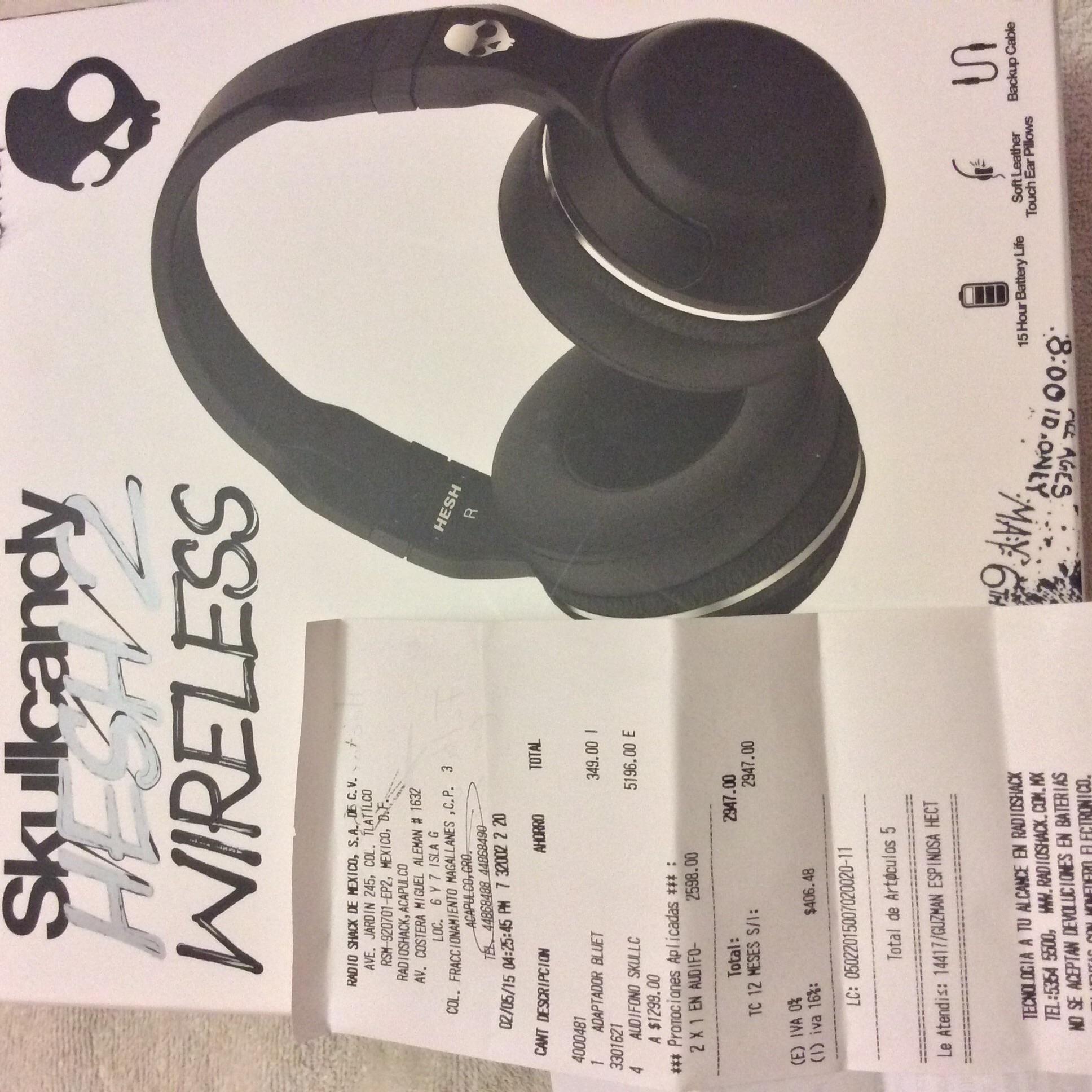 RadioShack: 2x1 en audífonos seleccionados