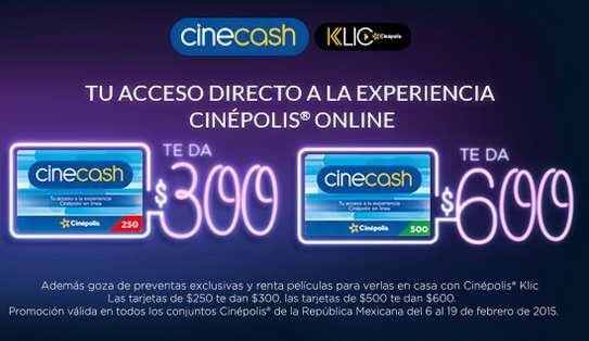 Cinépolis: 20% de crédito extra al comprar CineCash