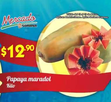 Ofertas de frutas y verduras en Soriana 18 y 19 de marzo