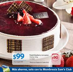 Sam's Club: pastel blueberry con queso $99 (regular $189)