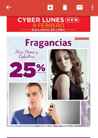 H-E-B en línea: 25% de descuento en fragancias para dama y caballero SÓLO HOY