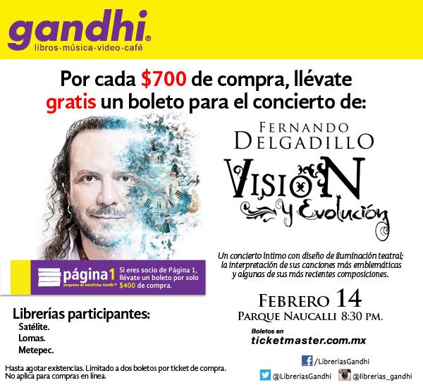 Gandhi: boleto para Fernando Delgadillo gratis por cada $400 ó $700 de compra