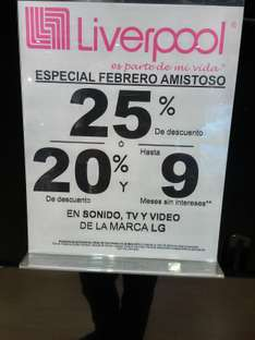 LIVERPOOL: 25% de descuento en Audio y Video