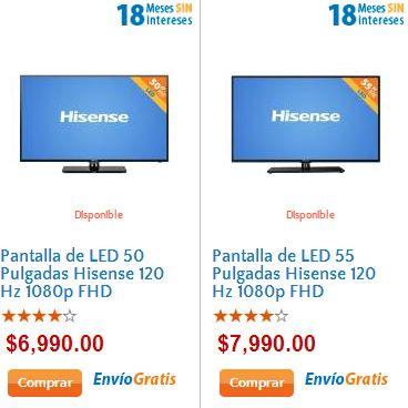 """Walmart: pantalla LED 50"""" $6,990 y 55"""" $7,990 y envío gratis en toda la tienda"""