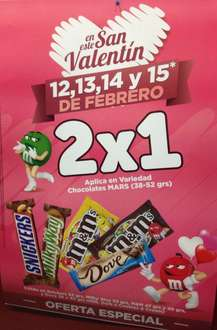 Oxxo: 2x1 en variedad de chocolates (M&M's, Milky Way, etc)