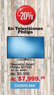 Office Depot: TELEVISION SMART PHILIPS 50FHD